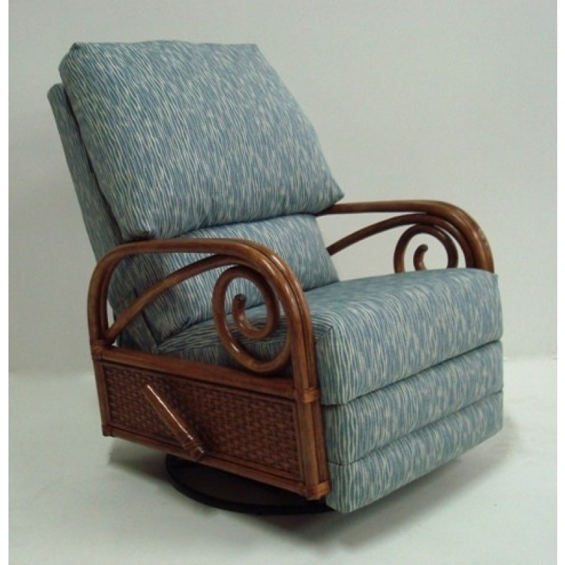 & Classic Rattan Calani Swivel Rocker Recliner Chair - Dinette Online