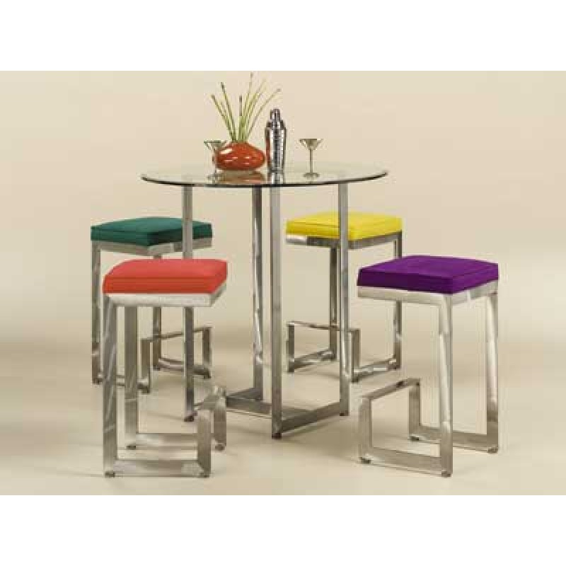 Counter Height Table Set: Glass Contemporary Pub Table Set by ...