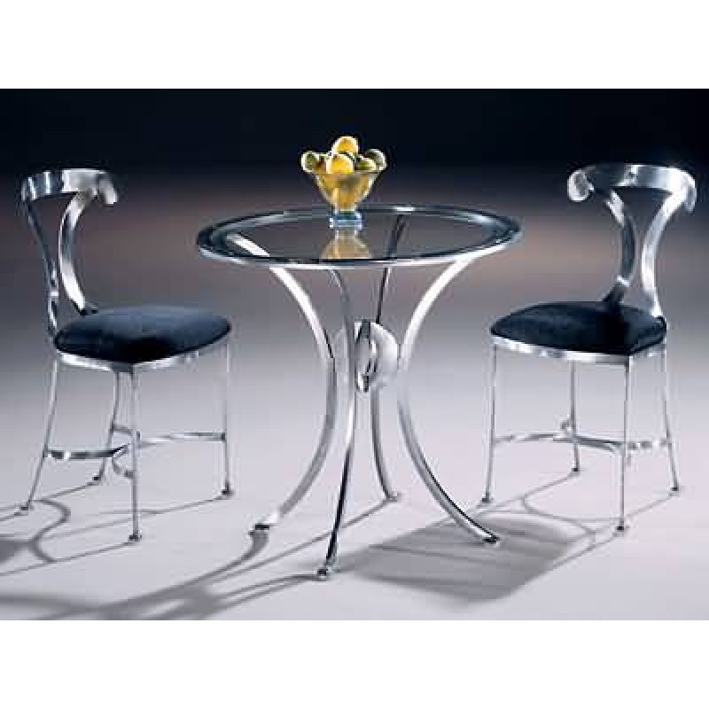 Johnston Casuals Lido Bistro Set, 2 Chairs 1702, Glass GL30, Table 1730