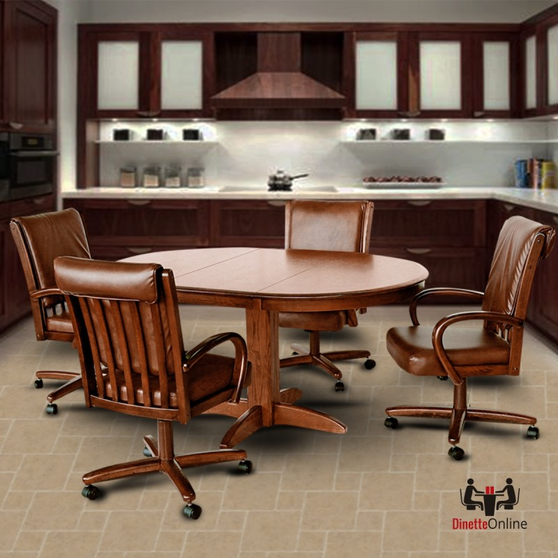 Chromcraft Dinettes: Chromcraft C177-936 And T250-607 Table Dinette Set
