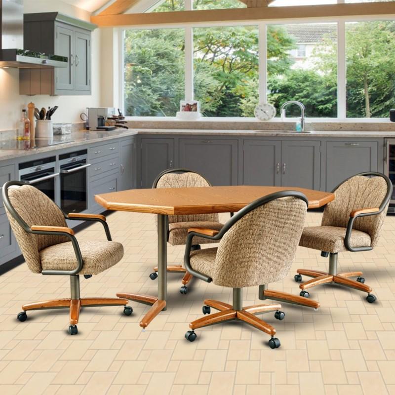 Excellent Chromcraft C188 945 And T154 465 Laminate Table Dinette Set Machost Co Dining Chair Design Ideas Machostcouk