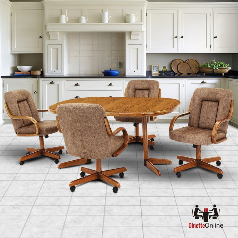 Douglas Furniture: Douglas Furniture Lizzie 5 PC Caster Dining Set