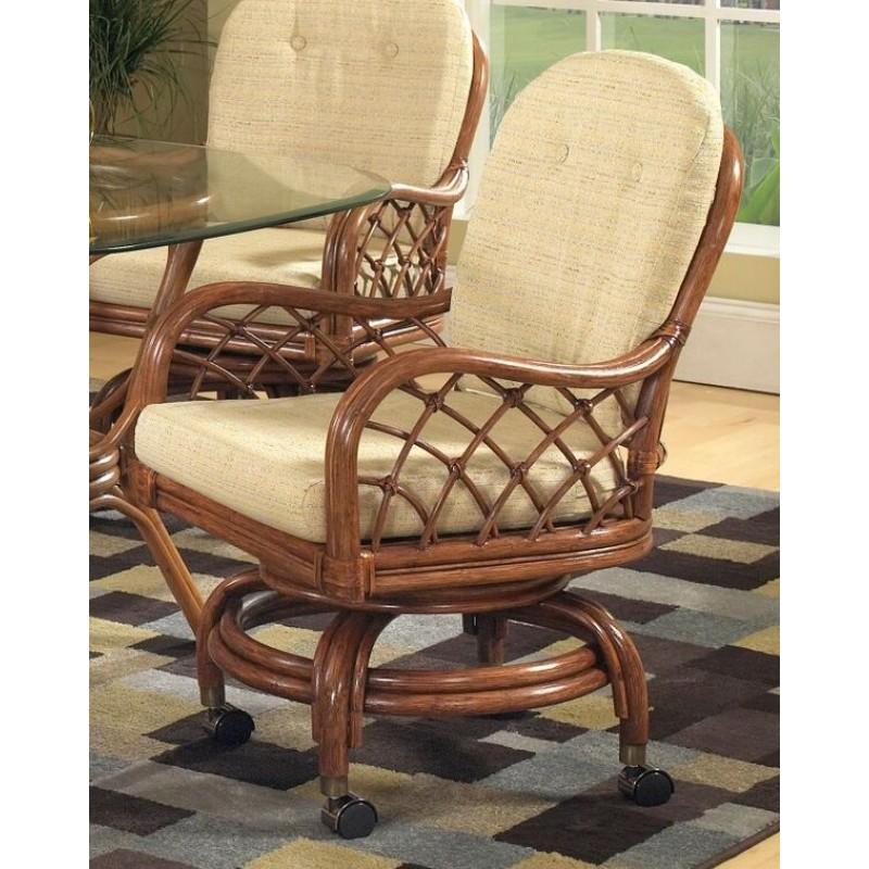 Classic Rattan Grand Isle Swivel Tilt Caster Arm Chair