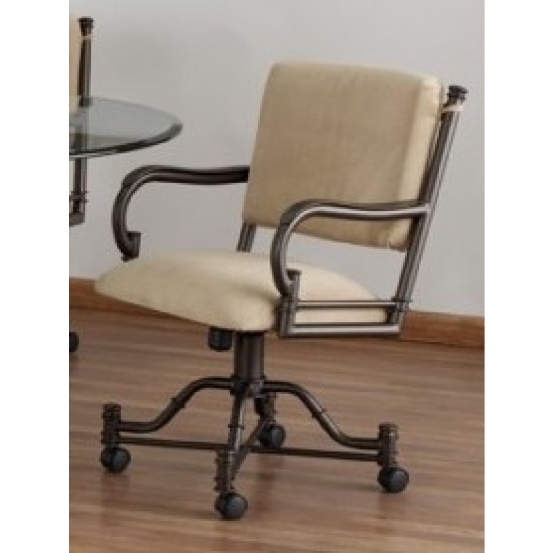Tempo Bullseye Swivel Tilt Caster Arm Chair