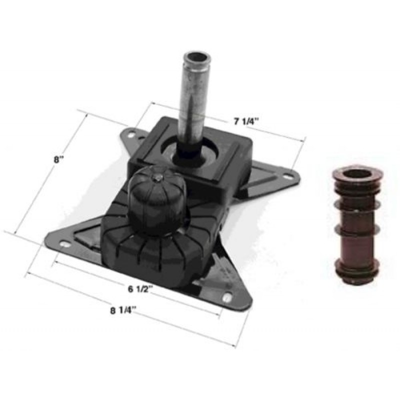 Chromcraft Swivel Tilt Mechanism with Plastic Insert Set of 3 (only fits Chromcraft)