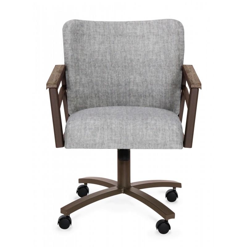 Excellent Chromcraft Metalcraft Os Swivel Caster Barrel Back Chair Cjindustries Chair Design For Home Cjindustriesco