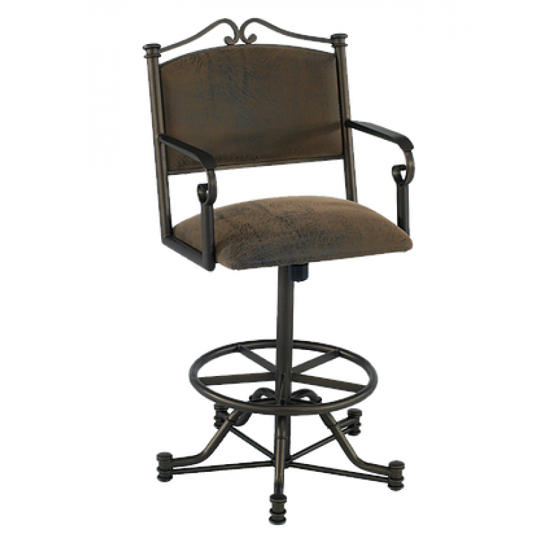 Tempo Callee 26 Quot Seattle Swivel Tilt Bar Stool With Arms
