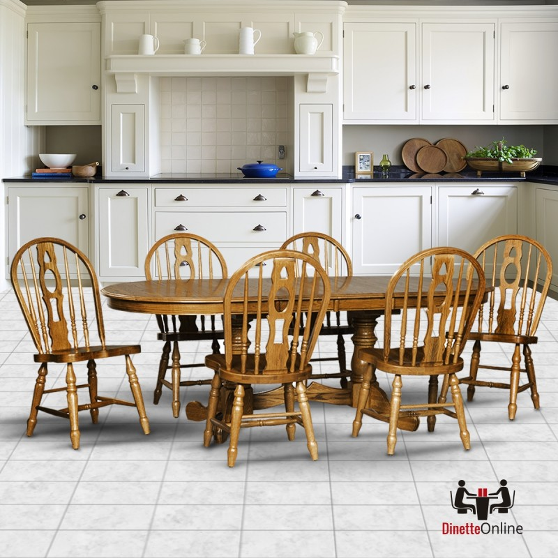 Dining Sets Online: Cochrane Monarch Classic Thresher Oak Dining Set