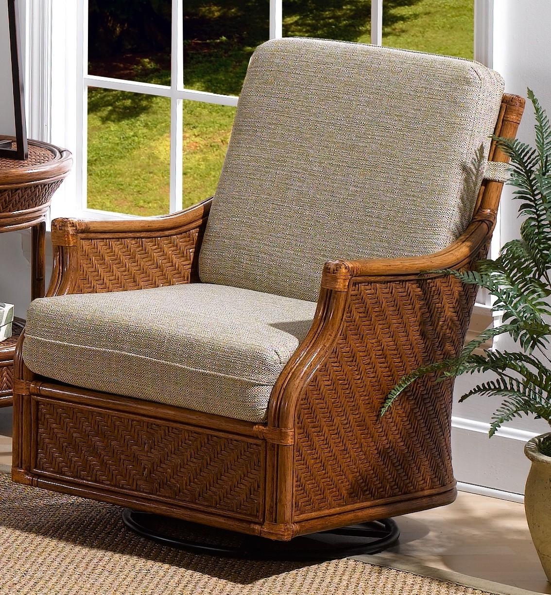 Classic Rattan Edgewater Swivel Glider Chair - Dinette Online