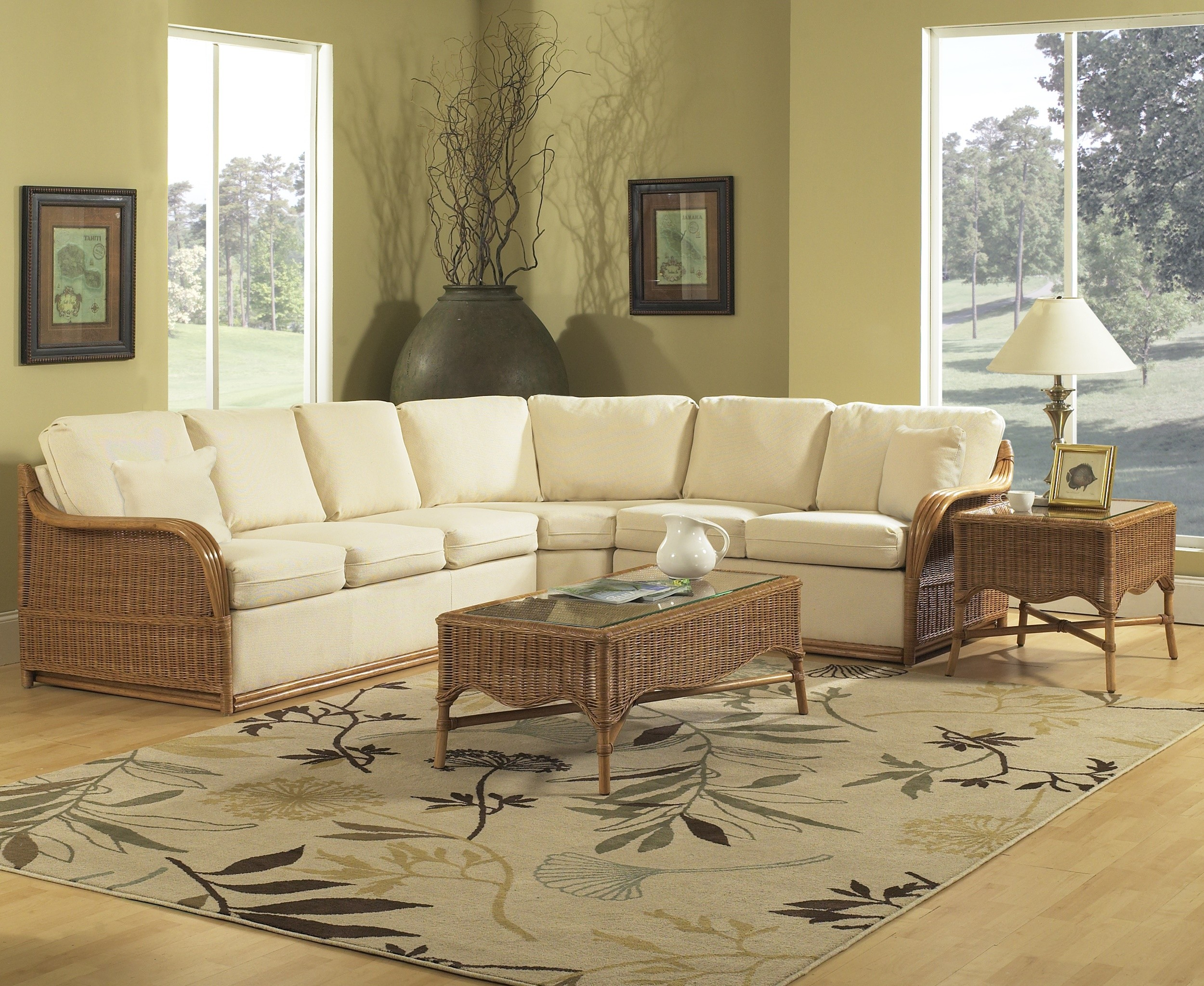 Outstanding Classic Rattan Bodega Bay Sectional Sofa Andrewgaddart Wooden Chair Designs For Living Room Andrewgaddartcom