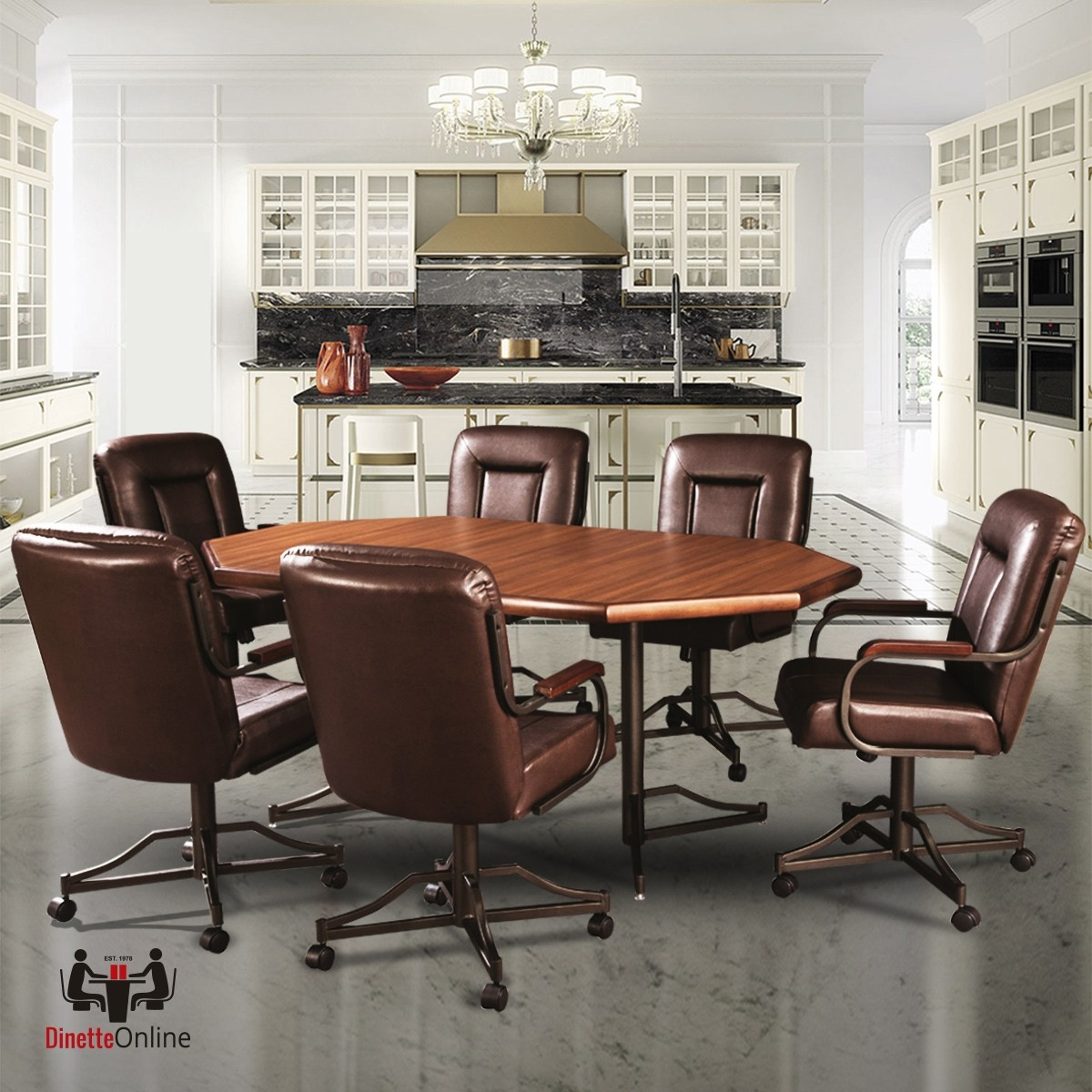 Douglas Casual Living Britney 7 Pc Caster Dining Set