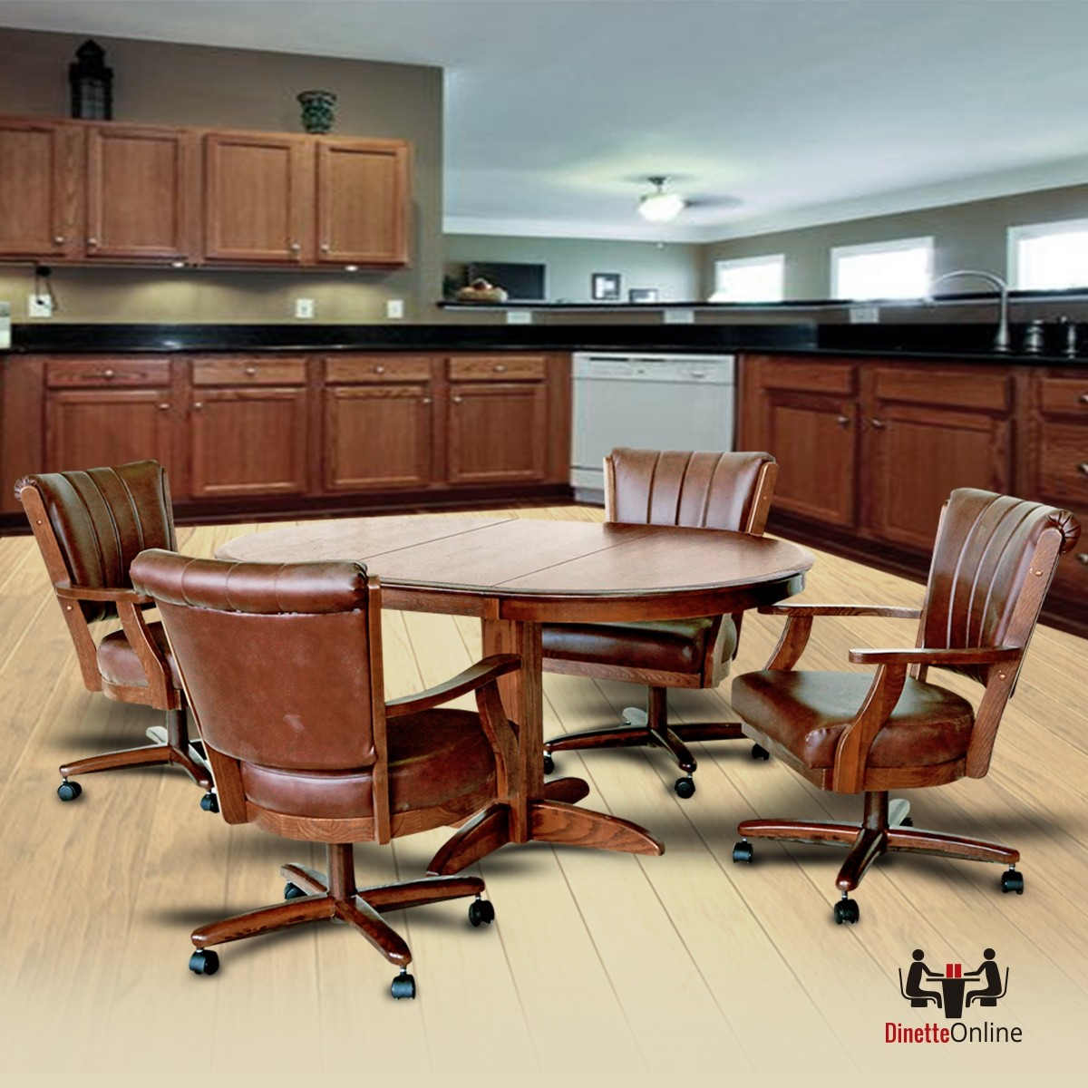Chromcraft C178-855 And T250-607 Table Dinette Set