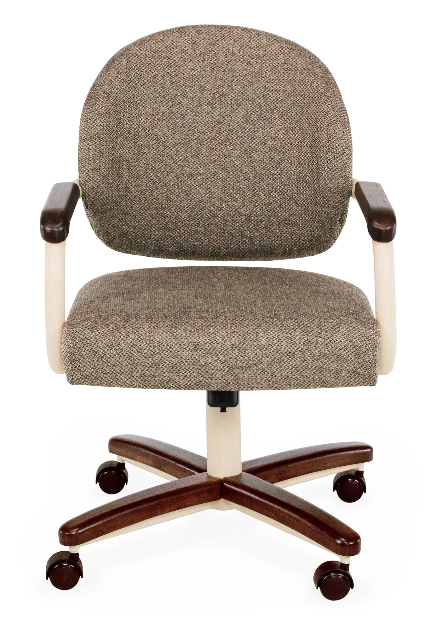 Chromcraft C362 935 Metal Swivel Tilt Caster Arm Chair