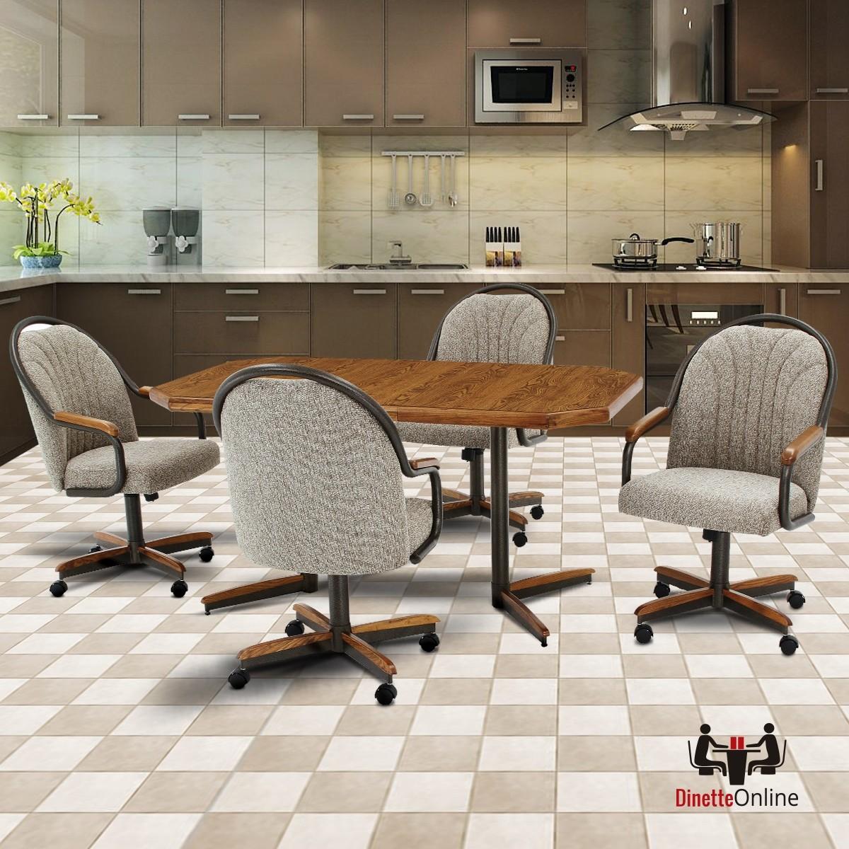 Douglas Furniture: Douglas Furniture Hanna Swivel Tilt Caster Dinette Set