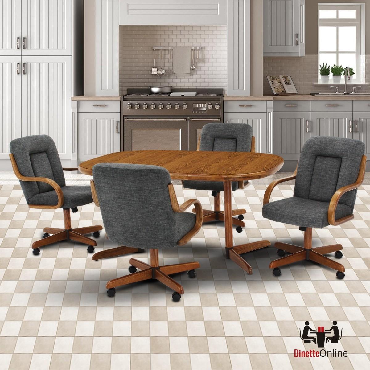 Douglas Furniture: Douglas Furniture Liz 5 PC Caster Dining Set