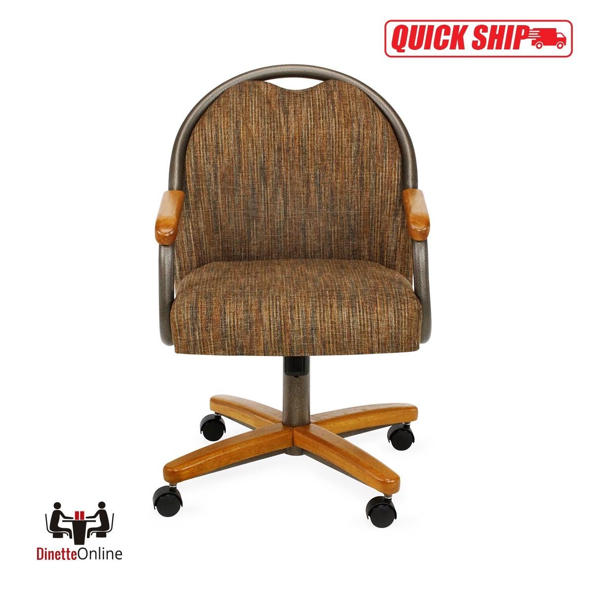 Chromcraft Quick Ship C188 935 Swivel Tilt Caster Chairs