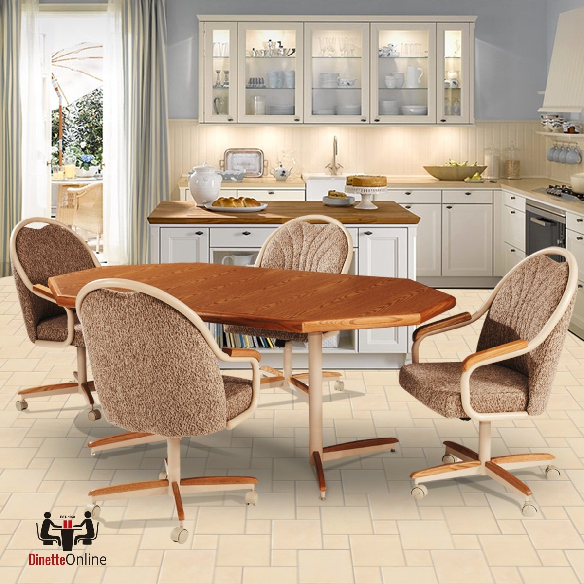 Douglas Casual Living Geneva Swivel Dining Set - Dinette ...