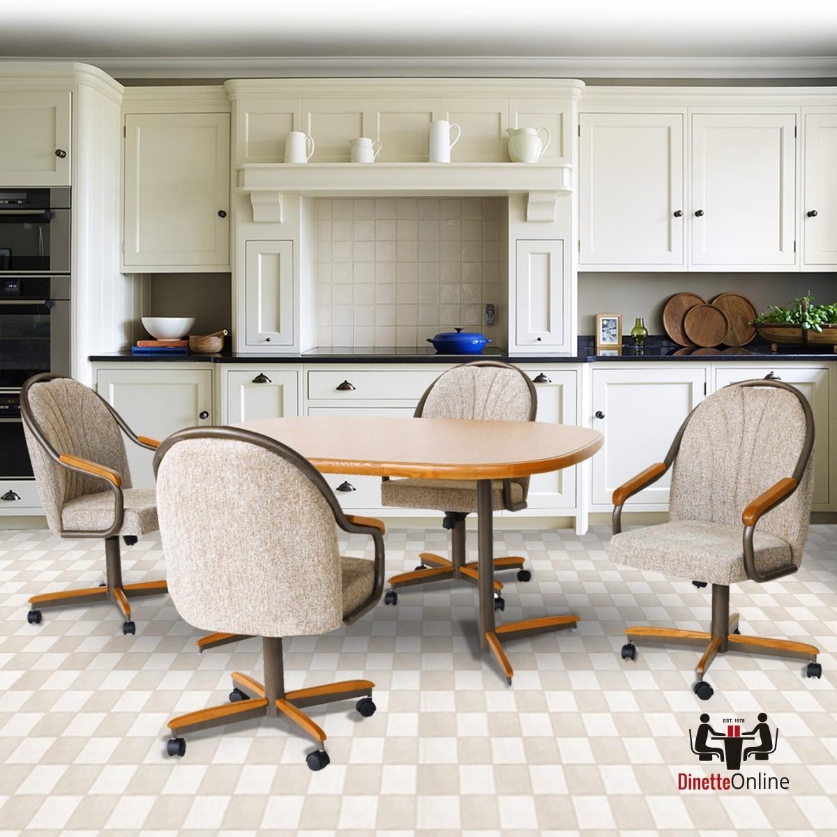 Douglas Casual Living Holly Medium Oak Swivel Dinette Set