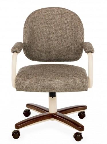 Chromcraft C363 935 Metal Swivel Tilt Caster Arm Chair