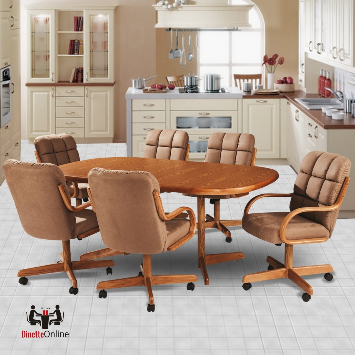 Douglas Casual Living Marcy 7 PC Caster Dining Set