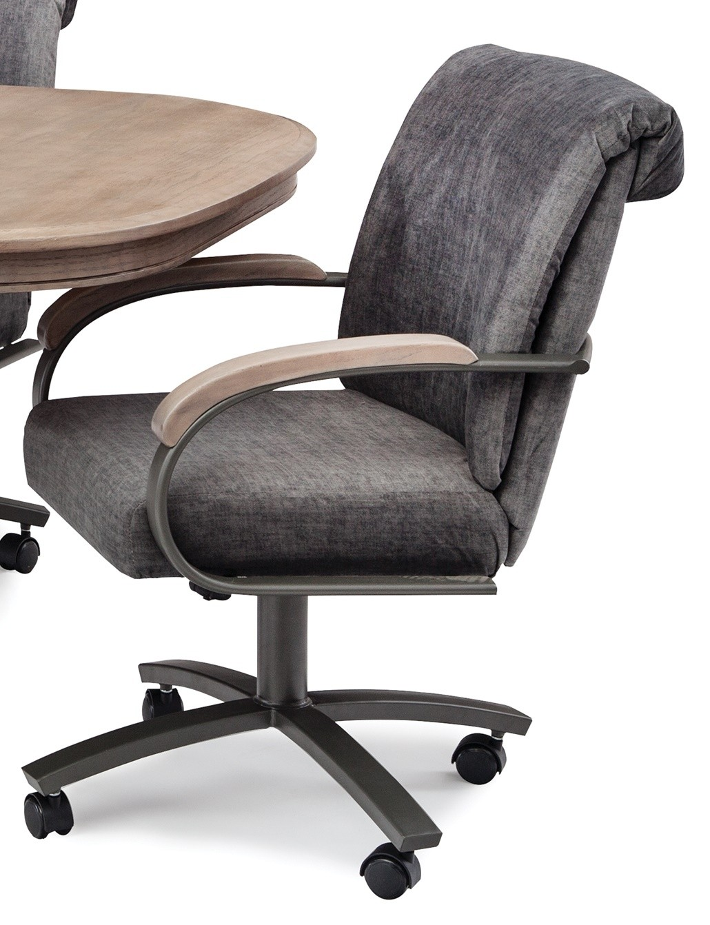 Chromcraft Metalcraft G Amp D Swivel Tilt Caster Arm Chair