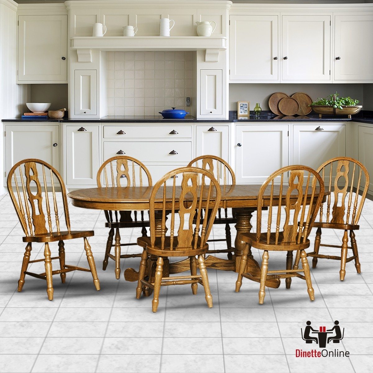 Cochrane Monarch Classic Thresher Oak Dining Set Dinette