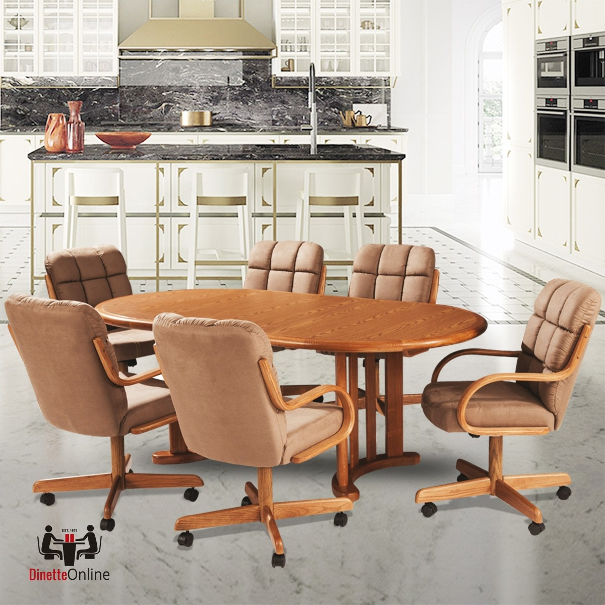 Douglas Casual Living Tiffany 7 Pc Caster Dining Set