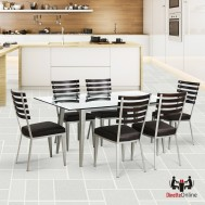 Johnston Casuals Maddox Rectangular Glass Top Dining Set