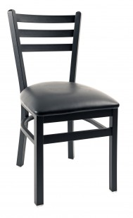 Commercial Ladder Back 3 Slat Metal Dining Chair