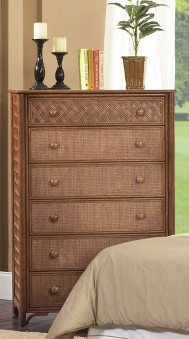 Classic Rattan Monte Carlo 6 Drawer Chest
