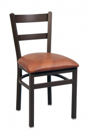 Commercial Ladder Back 2 Slat Metal Dining Chair
