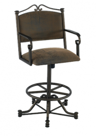 "Tempo Callee 26"" Seattle Swivel Tilt Bar Stool with Arms"