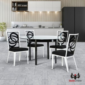 Johnston Casuals Luca Solo & Pegasus Glass Top Dining Set