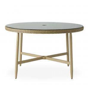 "Lloyd Flanders Fairview 48"" Round Umbrella Dining Table"