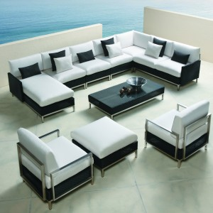 Lloyd Flanders Elements Sectional and Lounge Chairs Set