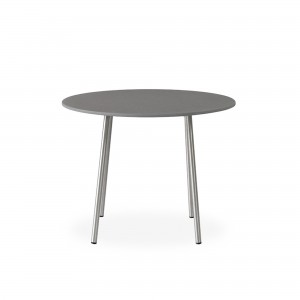 """Lloyd Flanders Elevation 24"""" Round End Table w/Light Gray Corion Top"""