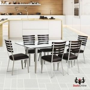 Johnston Casuals Maddox Rectangular Glass Top Dining Set