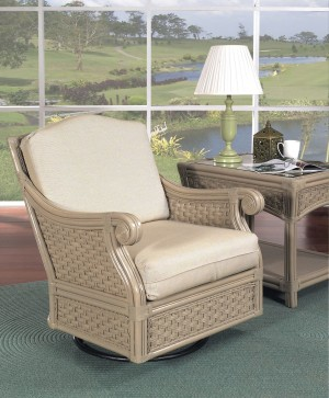Classic Rattan Riviera Swivel Glider Chair
