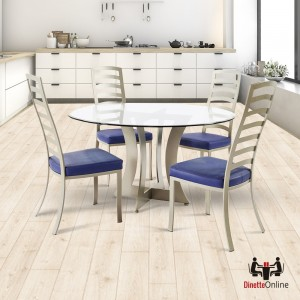 Johnston Casuals Summit Glass Top Dining Set