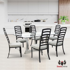 Johnston Casuals Summit Rectangular Glass Top Dining Set