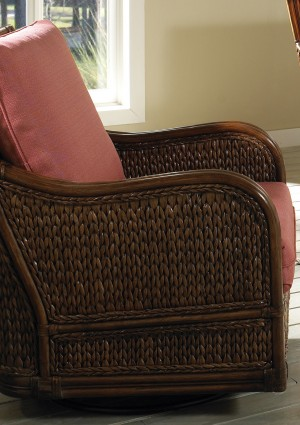Classic Rattan Callaway Swivel Glider Chair