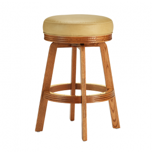 "Darafeev 438 Solid Oak 34"" Swivel Backless Bar Stool"