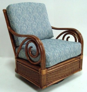 Classic Rattan Calani Swivel Glider Chair
