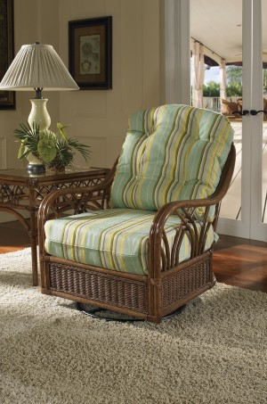 Classic Rattan Orchard Park Swivel Glider Chair
