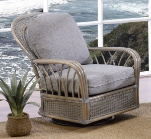 Classic Rattan Oceanview Swivel Glider Chair