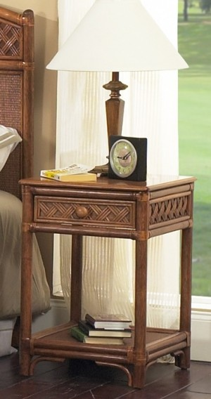 Classic Rattan Monte Carlo 1 Drawer Night Stand