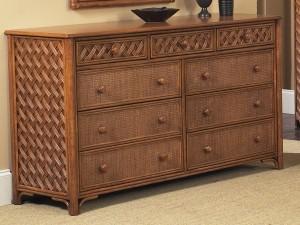 Classic Rattan Monte Carlo 9 Drawer Dresser