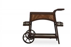 Lloyd Flanders Grand Traverse Bar Cart with Lay on Glass