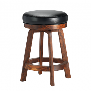 "Darafeev 865 Solid Walnut 26"" Swivel Backless Bar Stool"
