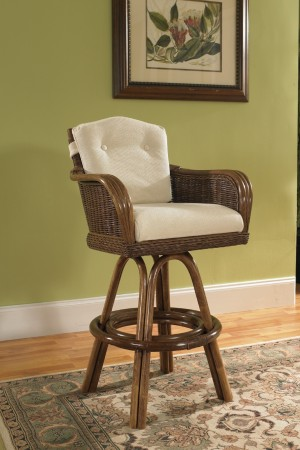 "Classic Rattan Bodega Bay 24"" Bar Stool"